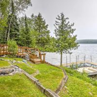 Chicagon Lakefront Cabin with Private Sauna & Dock home