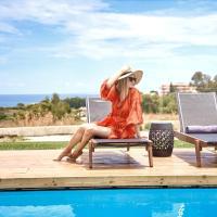 Luxury Rhodes Villa Amel Villa Sea View Private Swimming Pool 4 BDR Kalithea
