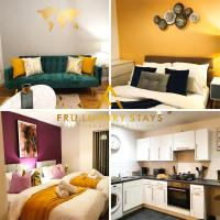 Fru Luxury Stays Serviced Accommodation, Manchester, 2 Bedroom Apartment with Free Parking & Wifi