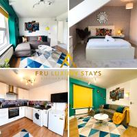 Book Today!!! Fru Luxury Stays Serviced Accommodation, Plymouth,1 Bedroom Apartment, Up to 4 Guests with Free Car Park and Wifi