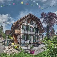 Uelis-Stöckli-Gästezimmer auf dem Bauernhof mit Hotpot unter dem Sternenhimmel