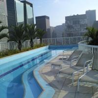 Lindo estúdio, piscina, sauna na Lapa, Rio