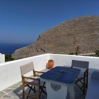 Cycladic houses in rural surrounding