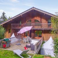 Chalet de 4 chambres a Morillon avec magnifique vue sur la montagne jardin amenage et WiFi