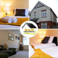 B and R Serviced Accommodation, 3 Bedroom House with Free Parking, Wi-Fi and 4K smart TV, Barnard House
