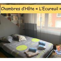"""Chambres d'hôte """"L Écureuil"""" à 10 min de Mons - 400m du PASS - 15 min de Pairi Daiza"""