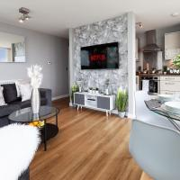 2 Bedroom 2 Bathroom Apartment in Central Milton Keynes with Free Parking and Smart TV - Contractors, Relocation, Business Travellers