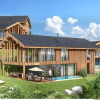 Luxury chalet with pool and sauna, skilift at 500m