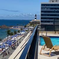 Apartamento aconchegante Flat frente mar Praia Farol da Barra