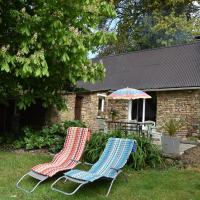 Lovely holiday home with garden, terrace and fantastic view in Guilberville