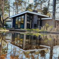 Cozy chalet with a jetty nearby De Veluwe