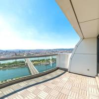 Luxus Penthouse Aussicht über Ganz Wien