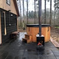 Rheezerbosch holiday home with unique forrest views, wooden hottub, large terrace, vechtdal