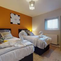Large 2 Bedroom House Sleeps 6 by Srk Serviced Accommodation Peterborough with Parking & Wifi