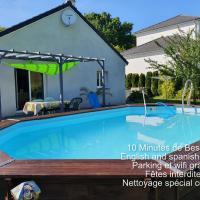 Loue 2 chambres privees dans maison avec piscine