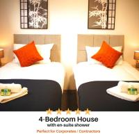 Contractor House - Beautifully decorated 4 en-suite bedrooms - Chadburn House by Your Lettings Peterborough