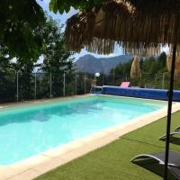 Chalet with 2 bedrooms in Evisa with wonderful mountain view shared pool furnished terrace