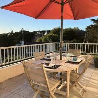 Bel appartement avec terrasse VUE MER, WIFI à 100m de la plage à PERROS-GUIREC - Réf 895
