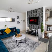 2 Bedroom 2 Bathroom Central MK Hub Apartment (Sleeps 6) with FREE Parking & Netflix by Yoko Property. Perfect for Contractors, Relocation & Business Travellers