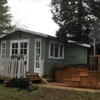 Woodland Cabin With private Wood-Fired Hot-Tub, hotel a Farnham