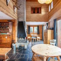 Maison de 4 chambres a Montvalezan avec magnifique vue sur la montagne jardin amenage et WiFi a 700 m des pistes