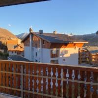 Studio a Huez avec magnifique vue sur la montagne et terrasse