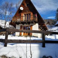 Chalet with one bedroom in Allos with wonderful mountain view and furnished garden
