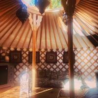 Yurt Within Grounds of 17th Century Country Inn