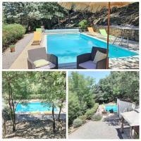 Maison avec piscine chauffée entre mer et montagne, hôtel à Montauriol