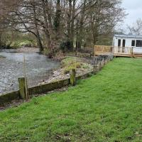 Lovely Riverside Cabin in Shropshire