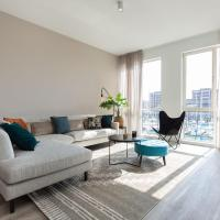 Modern apartment with terrace and balcony on the Scheveningen harbor