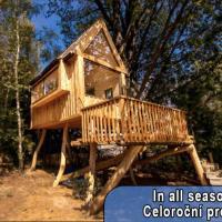 Tree House and Sauna with Beautiful Mountain Views, отель в городе Яблонне-в-Подьештеди