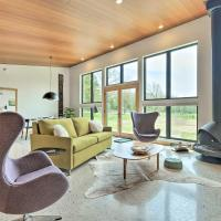Chic Contemporary Home on 4 Acres with Fire Pit