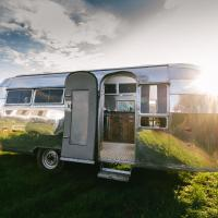 Silver Airstream Glamping & Rental