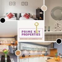 2 Bedroom Apartment at Prime Key Properties Serviced Accommodation Northampton - Free WiFi & Parking, Alpha House