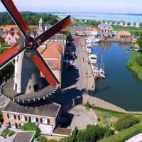 Royal windmill d'Orange Molen at the waterfront
