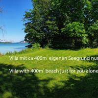 Alte Villa 400m2 Seegrund nur für euch - old villa with 400m2 beach just for you, Hotel in Maria Wörth