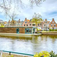 Beautiful houseboat in the centre of Leiden