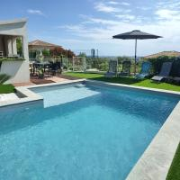 Rez de villa neuf 6 personnes, jardin, piscine