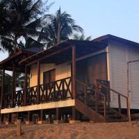 Hermosa cabaña en la playa con muelle