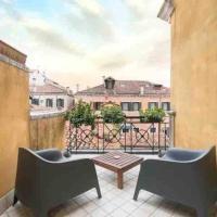 Ca' Pesaro rooftop terrace apartment.