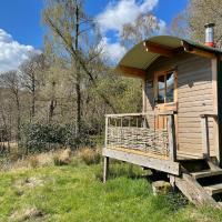 Cosy woodland off grid Shepherds Hut - Hazel