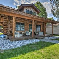 Quaint Lakefront Log Cabin with Dock and Kayaks