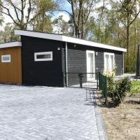 Modern chalet for the disabled, at the forest