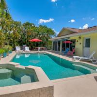 Heated Pool & Spa Home on a Scenic, Gulf Access Canal -Close to Bonita Beach!