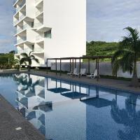 Departamento vista al mar 2D, hotel em Tonsupa