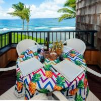 Sealodge D7-oceanfront with pool, BBQ, wifi ,free parking, secluded beach nearby
