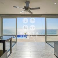 Modern Oceanfront Home With Pool In Playa Alta, Santa Marianita, hotel em Santa Marianita
