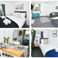 Oxford House in May Bank, 3 bedrooms, sofa bed and dining room! Sleeps 7