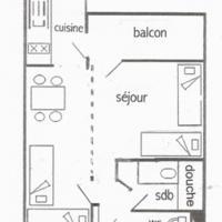 Appartement Belle Plagne, 1 pièce, 4 personnes - FR-1-181-983